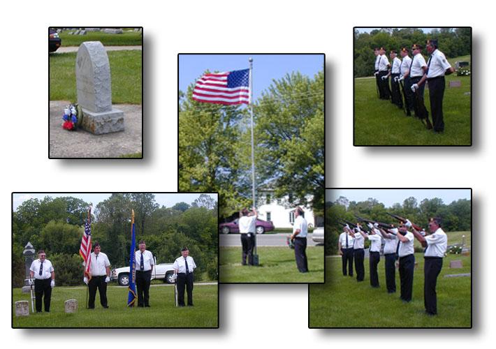 Brunswick Rucker/McAllister American Legion Post #7 Memorial Day services at Elliott Grove Cemetery, Brunswick, Missouri