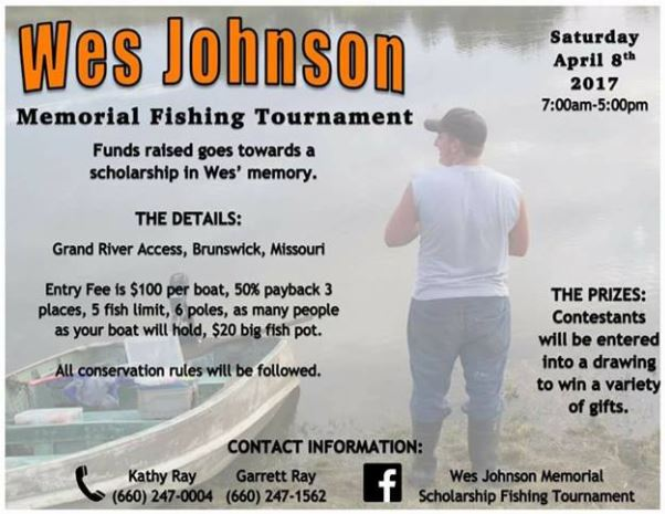 Wes Johnson Memorial Scholarship Fishing Tournament