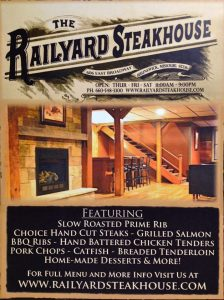 Railyard Steakhouse | Brunswick, MO
